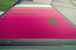 Tulpenkunstwerk HOU VOL